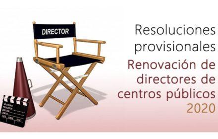 Resoluciones provisionales Directores 2020