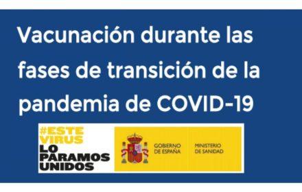 Vacunación fases transición COVID-19