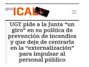 UGT pide giro prevención incendios