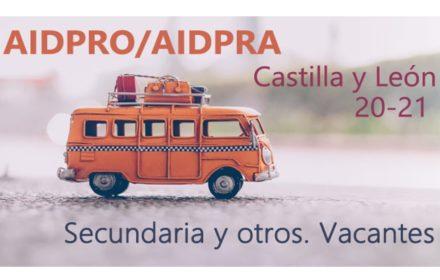AIDPRO-AIDPRA 2020 Secundaria vacantes