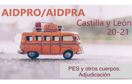 AIDPRO AIDPRA PES Adjudicación destinos