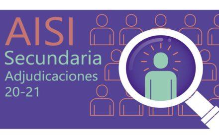 AISI 3 Secundaria Adjudicaciones Curso 20-21