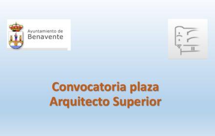 Ayto Benavente arquitecto ene-2021