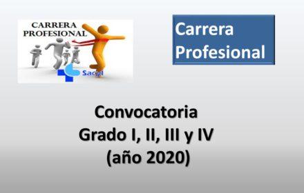 Carrera grado I II III y IV 2020 ene-2021