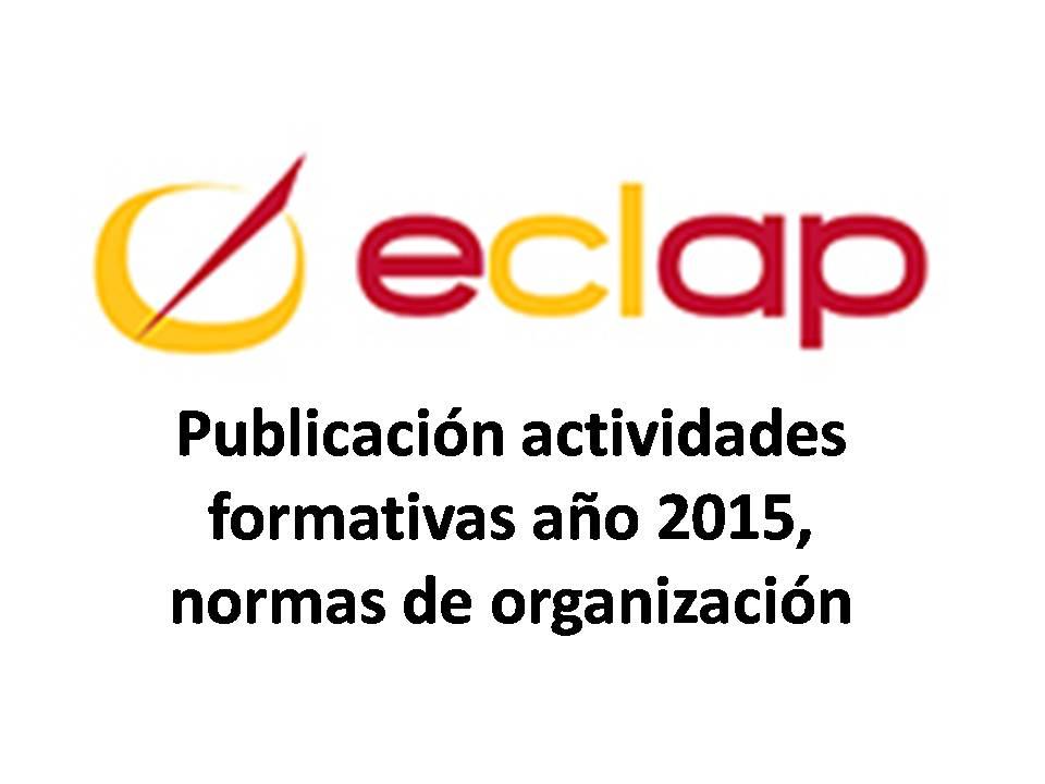 Publicación actividades formativas año 2015 eclap normas
