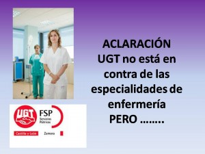aclaracion especialidades enfermeria