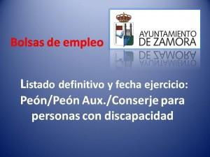 Bolsas de empleo_ayto_za_listados y examen discapacidad
