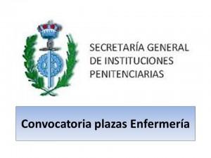 Convocatoria plazas Enfermería instituciones penitenciarias