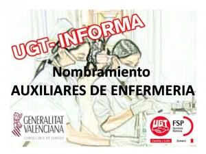 nombramiento aux enfer comunidad valenciana