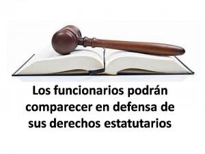 funcionarios defensa derechos estatutarios