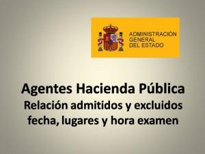 Cuerpo General Administrativo admitidos y examenes