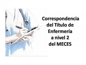 correspondencia enfermeria nivel 2 meces
