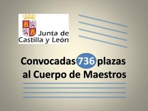 Convocadas 736 plazas maestros jcyl