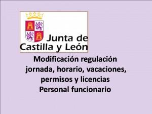Modificación regulación licencias y permisos funcionarios