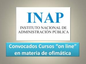 convocatoria cursos on line ofimatica inap 2016