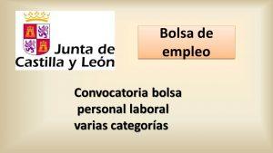 bolsa jcyl laboral varias categorias mayo-2016