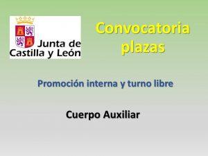 Convocatoria plazas cuerpo auxiliar jun-2016