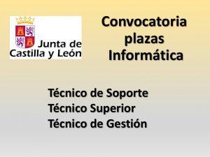Convocatoria plazas informatica  varias categorias jun-2016