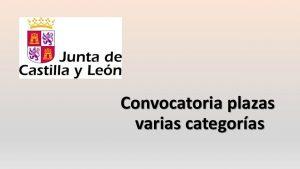 Convocatoria plazas varias categorias jun-2016