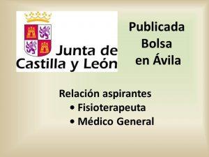 publicada bolsa avila fisioterapeuta y medico general sep-2016