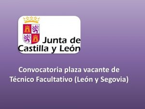 convocatoria-plaza-interino-tecnico-facultativo-leon-seg-oct-2016