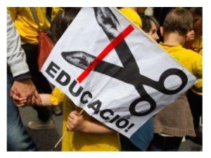 Siete años de retroceso y recortes educativos
