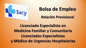 bolsa licenciados espec medicos urgencias med fam prov