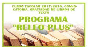 Programa RELEO PLUS Curso escolar 2017-2018 Gratuidad libros
