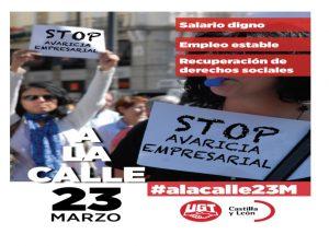 Stop a la avaricia empresarial 2017-03-23