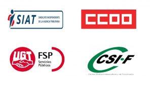 Nota de prensa conjunta sindicatos AEAT