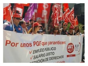 UGT reivindica incremento salarial 3 PGE 2018