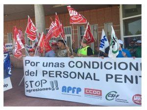 concentración plataforma sindical Madrid IV y entrevista Ángel Yuste