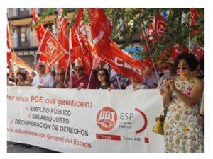 Concentración Toledo salario digno AGE