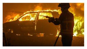 Consejos incendio viajando coche
