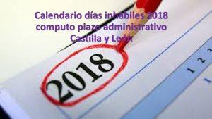 calendario inhabiles plazo administrativo