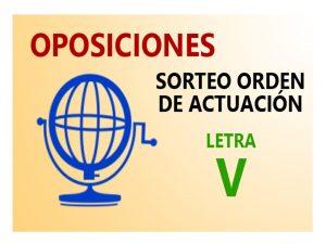Oposiciones Sorteo orden actuación