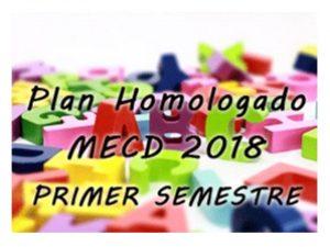 Plan Formación Profesorado primer semestre 2018 homologado por MECD