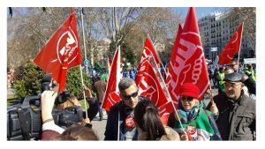 Éxito manifestación UGT-PRISIONES Madrid feb-2018