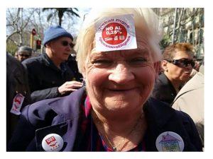 La sociedad a la calle defender pensionistas