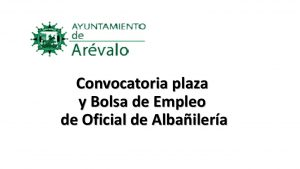 Ayto arévalo plaza albañil