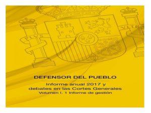 Informe defensor Pueblo 2017 instituciones Penitenciarias
