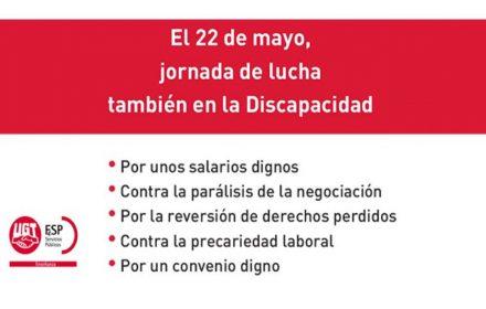 22 mayo jornada lucha Discapacidad