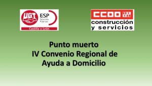 punto muerto IV Convenio Regional Ayuda Domicilio may-2018