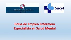Bolsa enfermera salud mental zamora ago-2018