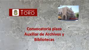 Convocatoria Toro aux archivo ago-2018