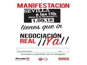 manifestación 1 septiembre Sevilla