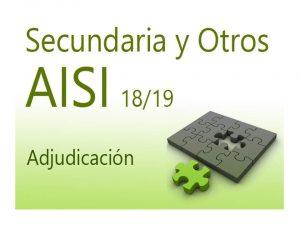 AISI 1 18-19 Secundaria Adjudicaciones