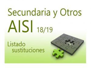 AISI 1 18-19 Secundaria Listado sustituciones