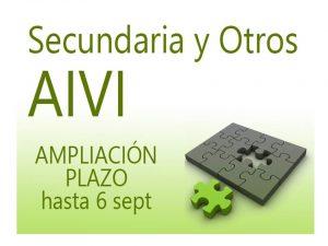 AIVI 18-19 Secundaria y otros Ampliación plazo
