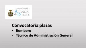 Ayto aranda convocatoria plazas sep-2018